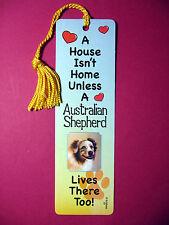 """""""Australian Shepherd"""" A House Isn't Home Tassel Keb (flag gold tassel) Sku# 33"""