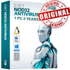 2020 ESET NOD32 Antivirus 1 PC , 3 Anno, GLOBAL- Consegna immediata
