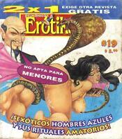 "DELMONICOS EROTIKA ""SEXOTICOS HOMBRES AZULES mexican comic SEXY GIRLS, SPICY #19"