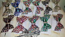Joblot 12 Pcs Arco Diseño Diamante Hairclips hairgrips nuevo al por mayor Lote 5