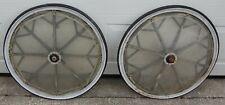 """Sulky Horse Harness Racing 8 Spoke Wheels, Set of Two 28"""" Wheels, w/ Kenda Tires"""