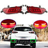 2x LED Rear Bumper Reflector Stop Brake Fog Light Lamp For Mazda CX-3 DK 2015-20