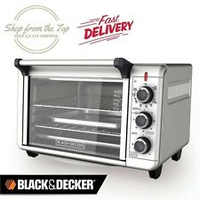 """Black Decker Large 6-Slice 12"""" Pizza Convection Kitchen Oven Countertop Toaster"""