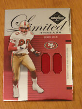 JERRY RICE RARE ( RED) DUAL PRO BOWL JERSEY 49ERS WR LIMITED THREADS CARD #14/50