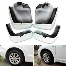 White Front+Rear Splash Guard Mud Flaps Retrofit For Honda Civic 9th 2012-2015