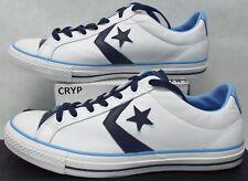 4f39a4b36b9bc7 Zapatos De Cuero nuevo Mens 11 Converse Estrella Player Ev Blanco Azul  136772C  60
