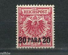 DP Türkei 20 P. Adler dunkelrosarot 1899 Michel 7 e Attest (S3512)