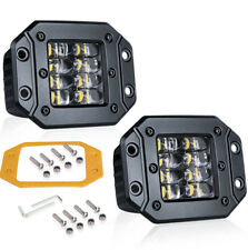 """2X Flush Mount Pod Cube Quad Row LED Light Bar Spot 6000K Driving JEEP 160W 4"""""""