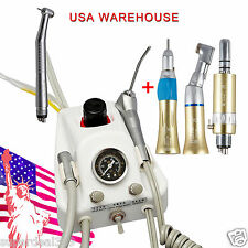 Portable Dental Turbine Unit SN4 + High/Low Speed Handpiece 4 Hole FAST to USA