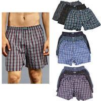 6 Men Knocker Boxer Trunk Plaid Shorts Underwear Cotton Briefs Elastic 3XL 50-52