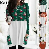 Womens Party Short Holiday Loose Oversized Holiday Baggy UK Tops Mini Dresses