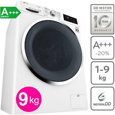LG A+++ 9 kg Direktantrieb Waschmaschine Frontlader Dampf Funktion 1400 U/min.