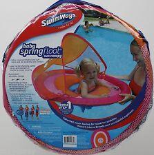 SwimWays Step 1 Baby Pink u0026 Orange Spring Float Sun Canopy 9-24 Months NIP  sc 1 st  eBay & SwimWays Round Pool Floats u0026 Rafts   eBay