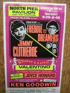 1971 BLACKPOOL NORTH PIER PAVILION THEATRE FLYER: JIMMY CLITHEROE, FRED' DREAMER