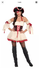 New in Bag Womens Adult Foxy First Mate Halloween Costume Pirate Buccaneer M