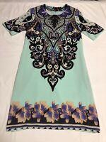 ETRO Milano Silk Midi Dress Size S Italy