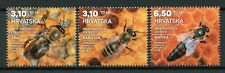 Croatia 2019 MNH Carniolan Honey Bee 3v Set Bees Insects Stamps