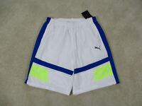 NEW Puma Shorts Adult Extra Large Blue Basketball Training Athletic Gym Mens $40