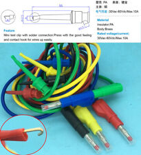 Retractable cap 4mm Stackable Banana Plug TO Test hook 0.5/1/2M Test Lead cables