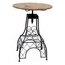 NEW! PARIS EIFFEL TOWER THEMED BAR TABLE - WOOD TOP TABLE