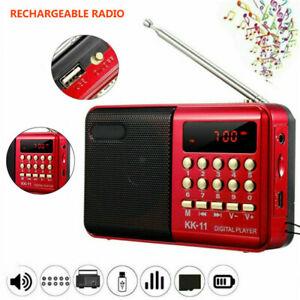 FM Radio LCD Digital Speaker MP3 Music Player USB TF Card Player Mini Portable