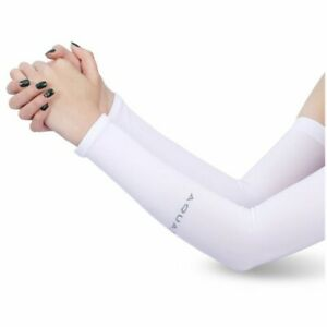 1 Pair Cooling Warmer UV Sun Protection Arm Sleeves Cover for Outdoor Sports