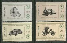 Venezuela Scott #1250-1253 MNH History of Transport 1981