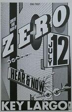 Zero Poster Key Largo, Hear & Now, Kimock 1986/07/12 EX