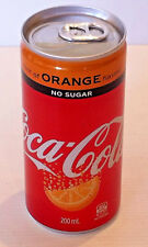 Coca Cola Hint of Orange Flavour No Sugar Coke 200ml Mini Can