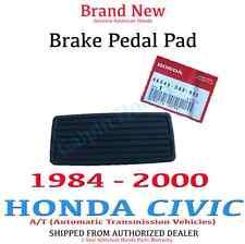 Genuine OEM Honda Civic Brake Pedal Pad Rubber Cover - A/T 84-00 (46545-SA5-980)