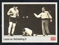 1991 Aw Sports All World Boxing Louis vs. Schmeling II. #142 NRMINT / MINT.