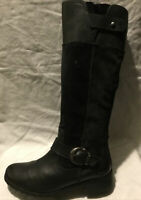 Timberland Earth Keepers Ladies KneeHigh Boots UK Size6 EU Size 39 Black Leather