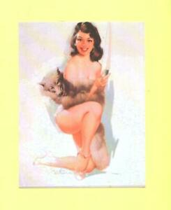 OO POSTCARD  SEXY WOMAN BEAUTY PIN UP REPRO POST CARD # 75
