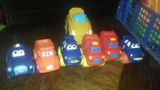 Lot 6 voitures 1er age en caoutchouc/Plastique souple