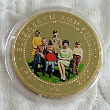 COOK ISLANDS 2007 DIAMOND WEDDING PHOTO PORTRAIT GOLD PLATED PROOF $1 d