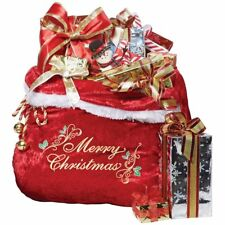 Deluxe Santa Claus Red Christmas Toy Bag Present Gift Sack Costume Accessory