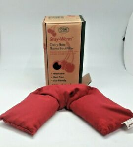 Stay Warm Thermal Cherry Stone Neck Pillow Hot Fabric Washable UNUSED DIS