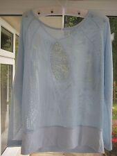 Gym Yoga Sports Top Soybu Cassie Dolman Blue Teabag Sweatshirt Size M