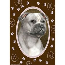 Paws Garden Flag - Blue and White Staffordshire Bull Terrier 172481