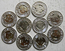 Lot of 10 C. R. & L. Lines (New Britain, Connecticut) transit tokens - Ct290N