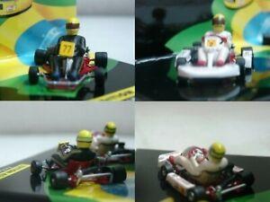 WOW EXTREMELY RARE Kart Senna Go Kart Set 1982 & 1993 ASC #14 1:43 Minichamps