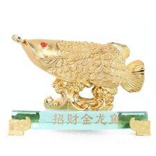 Feng Shui Golden Arowana Fish Statue