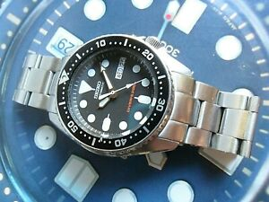 Clean S/S Men's Seiko Automatic Diver's 200M Day Date Watch 7S26-0030 Runs