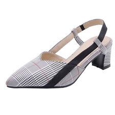 Zapatos Sandalias para mujer Vestido de celosía Puntera en Punta Zapatos De Salón Tacón Grueso
