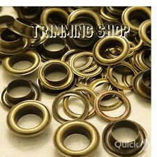 100 x 14mm Bronze  Eyelets with Washers for Banners - UK Seller