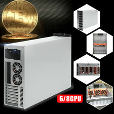 6/8 GPU 1250W 4U Miner Coin Open Air Mining Machine Frame Rig Case For Bitcoin