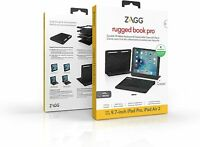 ZAGG Rugged Book Pro Magnetic Hinged Bluetooth Keyboard Case Apple iPad Pro 9.7""