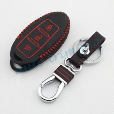 3 Button Key Case Bag Cover For Nissan March Versa Qashqai Rogue X-Trail Murano