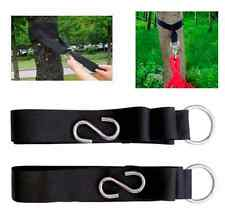 2X 3M Hanging Straps Rope Strong Strap Belt Hammock Tree Straps +2 Hooks Slings