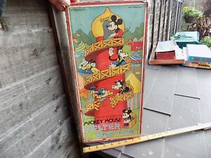 Disney Rat Face Mickey Mouse Helter Skelter Fairground Game Toy in Box c1930s